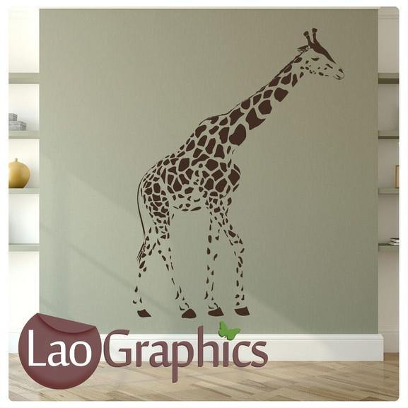 full size giraffe wild animals wall stickers home decor africa art