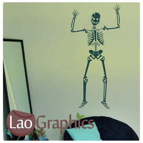 Full Skeleton Skulls & Bones Wall Sticker Home Decor Art Decalss-LaoGraphics