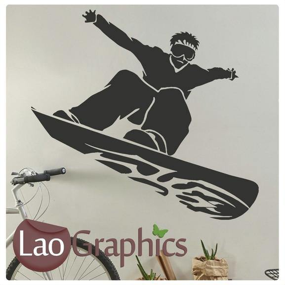 Funky Snowboarder Winter Sports Wall Stickers Home Decor Art Decals-LaoGraphics