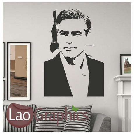 George Clooney Wall Stickers Home Decor Art Decals-LaoGraphics
