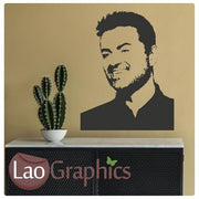 George Micheal Wall Stickers Home Decor Art Decals-LaoGraphics