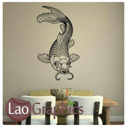 Ghost Koi Carp Boys Aquatic Wall Stickers Home Decor Art Decals-LaoGraphics