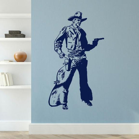 Giant Cowboy Boys Bedroom Wall Stickers Home Decor Boys Room Art Decals-LaoGraphics