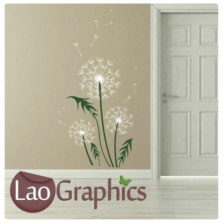 Giant Dandelion Flower Modern Interior Wall Stickers Home Decor Art Decals-LaoGraphics