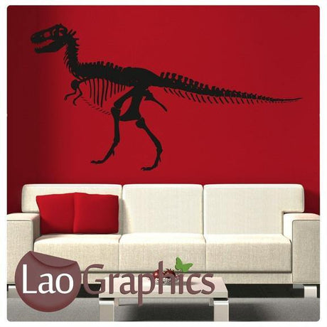 Giant Dinosaur Skeleton Boys Bedroom Wall Stickers Home Decor Art Decals-LaoGraphics