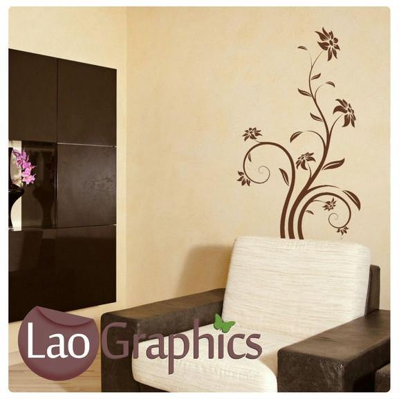 Giant Flower Modern Interior Wall Stickers Home Decor Art Decals-LaoGraphics