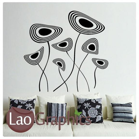Giant Funky Plant Modern Interior Wall Stickers Home Decor Art Decals-LaoGraphics