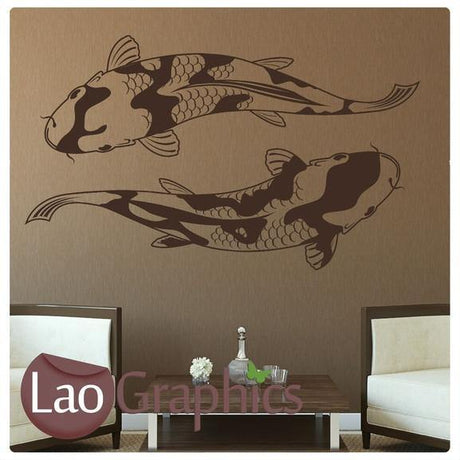 Giant Koi Carp Boys Aquatic Wall Stickers Home Decor Art Decals-LaoGraphics