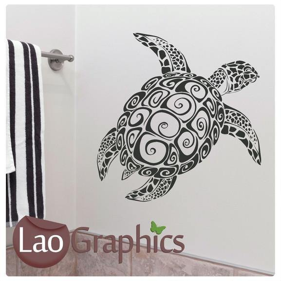 Giant Sea Turtle Boys Aquatic Wall Stickers Home Decor Art Decals-LaoGraphics