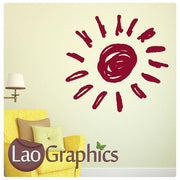 Giant Sun Nursery Wall Stickers Home Decor Childrens Art Decals-LaoGraphics
