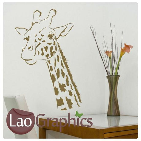 Giraffe Head #2 Home Decor Art Decals-LaoGraphics