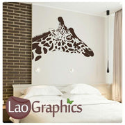 Giraffe Head Wild Animals Wall Stickers Home Decor Africa Art Decals-LaoGraphics