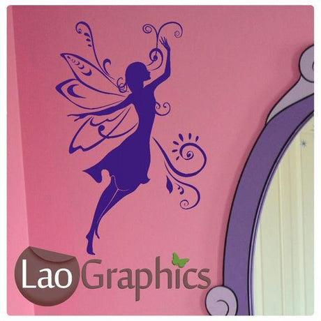 Girls Fairy Girls Bedroom Wall Stickers Home Decor Art Decals-LaoGraphics