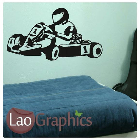 Go Kart Boys Room Wall Stickers Home Decor Racing Art Decals-LaoGraphics