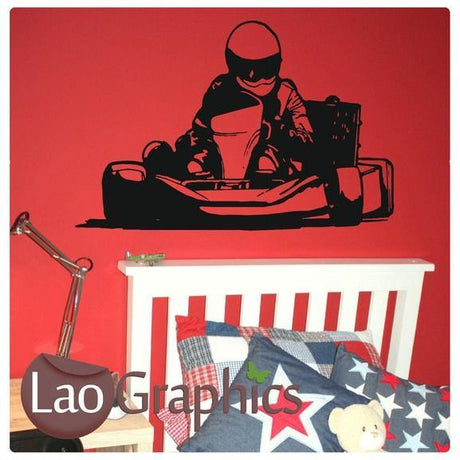 Go Karting Boys Room Wall Stickers Home Decor Racing Art Decals-LaoGraphics