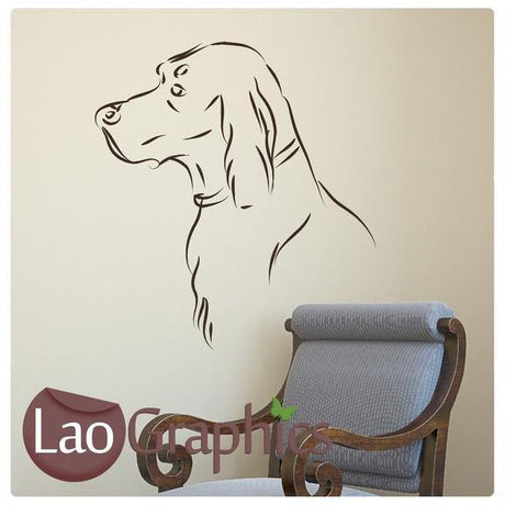 Golden Retriever Canine Puppy Dog Lovers Wall Stickers Home Decor Art Decals-LaoGraphics