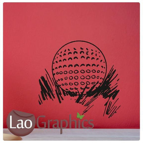 Golf Ball Boys Sports Wall Stickers Home Decor Art Decals-LaoGraphics