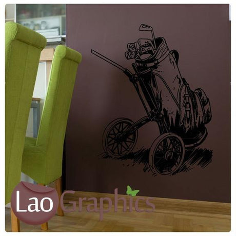 Golf Club Bag Boys Sports Wall Stickers Home Decor Art Decals-LaoGraphics