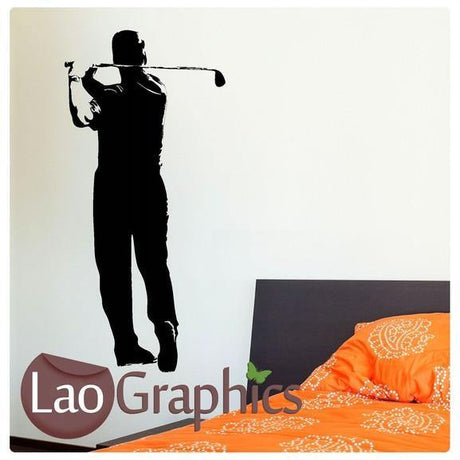 Golfer Boys Sports Wall Stickers Home Decor Art Decals-LaoGraphics
