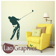 Golfer Golf Player Boys Sports Wall Stickers Home Decor Art Decals-LaoGraphics
