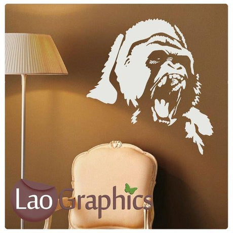 Gorilla Primate Wall Stickers Home Decor Mammal Art Decals-LaoGraphics