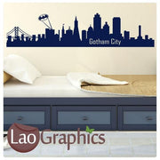 Gotham City Skyline City Scape Wall Stickers Home Decor Art Decals-LaoGraphics