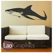 Great White Shark Boys Aquatic Wall Stickers Home Decor Art Decals-LaoGraphics