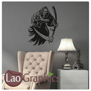 Grim Reaper #2 Skulls & Bones Wall Sticker Home Decor Art Decalss-LaoGraphics