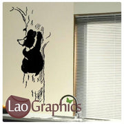 Grizzly Bear Climbing a Tree Wall Stickers Home Decor Art Decals-LaoGraphics