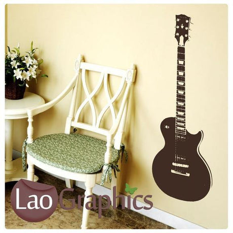 Guitar Musical Wall Stickers Home Decor Music Art Decals-LaoGraphics