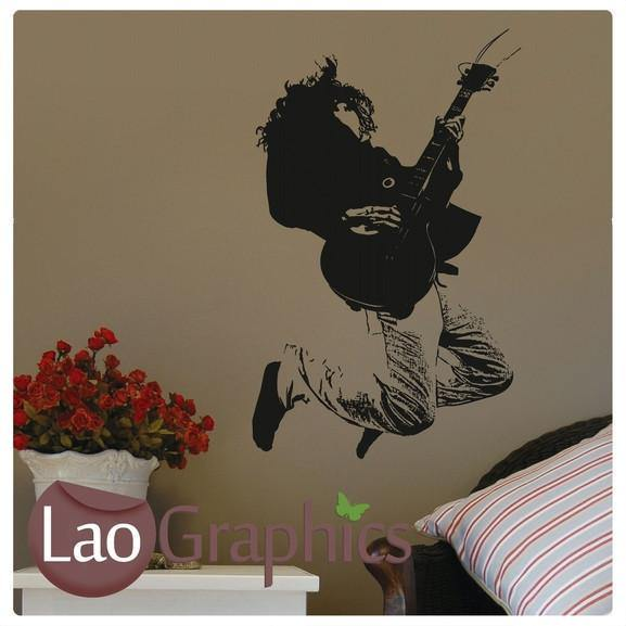 Guitarist Musical Wall Stickers Home Decor Music Art Decals-LaoGraphics
