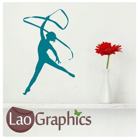 Gymnast Dancer Girls Room Wall Sticker Home Decor Art Decals-LaoGraphics