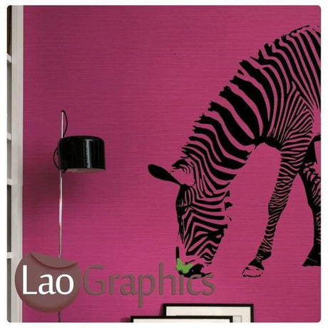 Half Zebra African Wild Animals Wall Stickers Home Transfer Art Decals-LaoGraphics