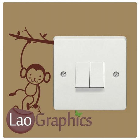 Hanging Monkey light switch Home Decor Art Decals-LaoGraphics