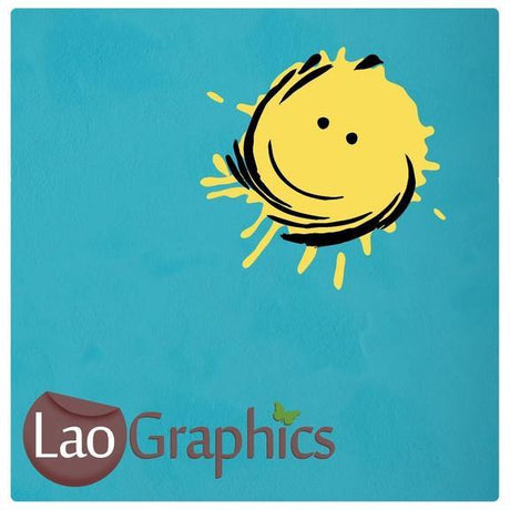 Happy Sun & Face Wall Stickers Home Decor Art Decals-LaoGraphics