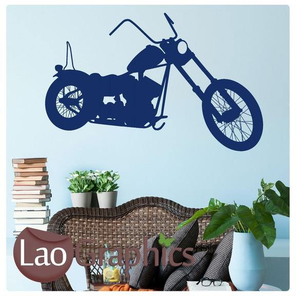 Harley Motorbike Vehicle & Transport Wall Stickers Home Decor Art Decals-LaoGraphics