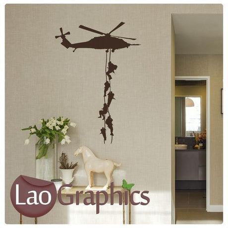 Helicopter & Marines Military & Army Wall Stickers Home Decor Art Decals-LaoGraphics