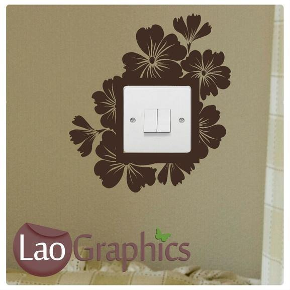 Hibcuss #1 Light Switch Light Switch Art Decals Home Decor Cute Wall Stickers-LaoGraphics