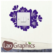 Hibcuss #3 Light Switch Light Switch Art Decals Home Decor Cute Wall Stickers-LaoGraphics