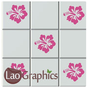 Hibcuss Flower Kitchen / Bathroom Tile Transfers Home Decor Art Decals-LaoGraphics
