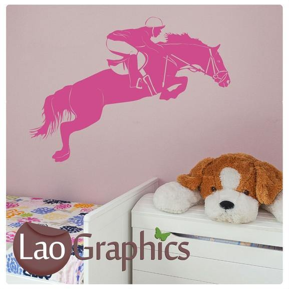 horse rider riding girls room wall stickers home decor animal art