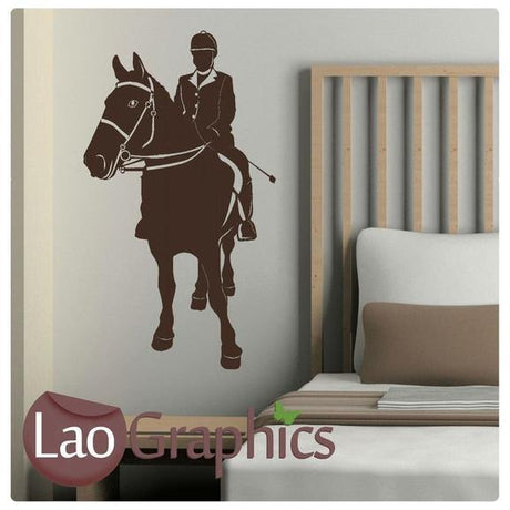 Horse Riding Girls Room Wall Stickers Home Decor Animal Art Decals-LaoGraphics