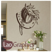 Horse Trailer Box Girls Room Wall Stickers Home Decor Animal Art Decals-LaoGraphics