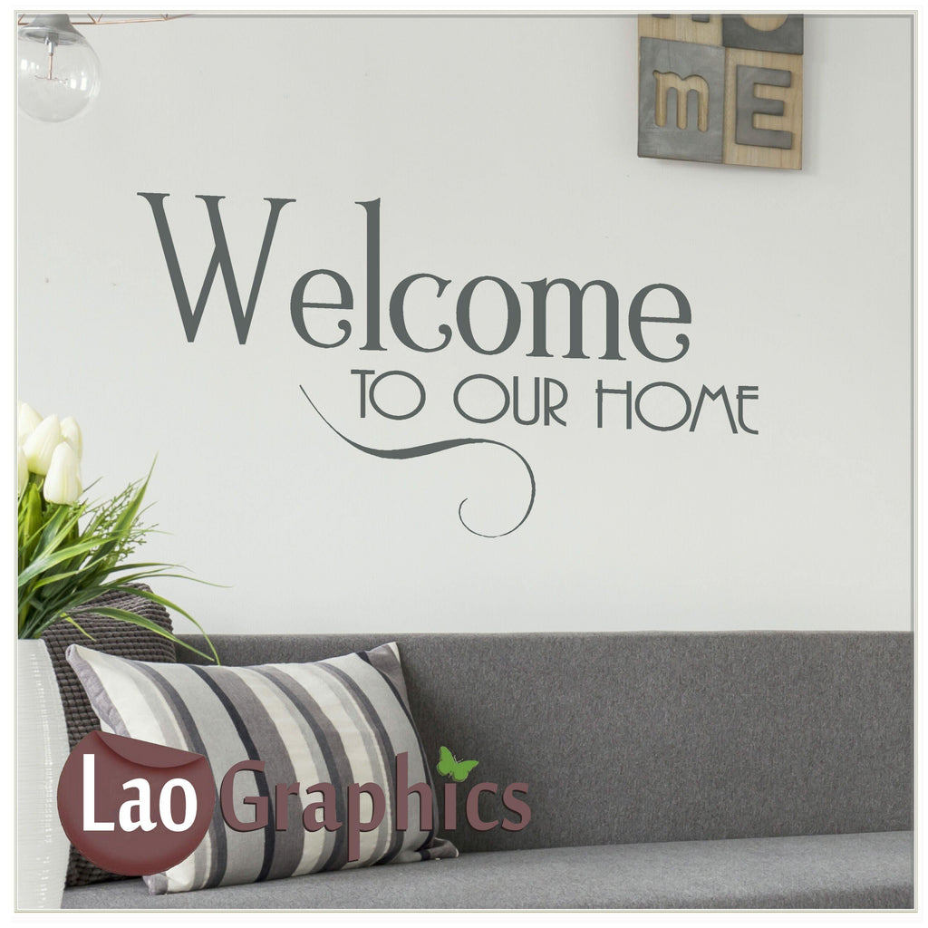 Welcome Home Decor Art Decals