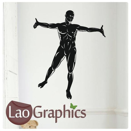 Human Man Vinyl Transfer Wall Stickers Home Decor Art Decals-LaoGraphics