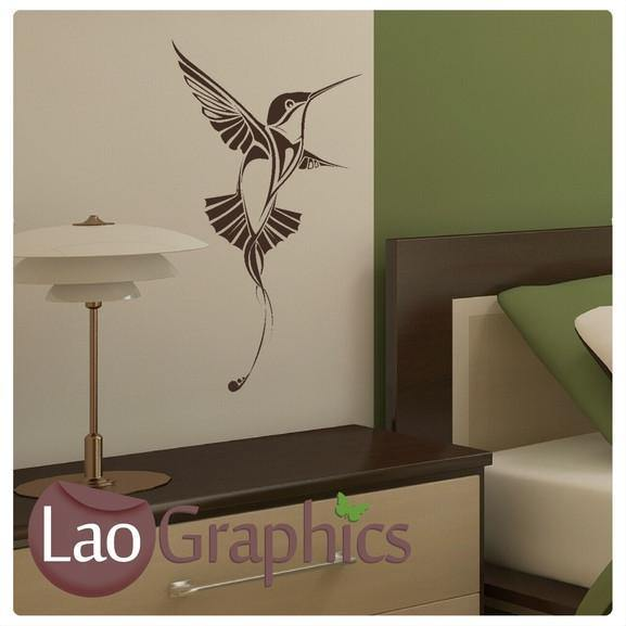 Humming Bird Wall Sticker Home Decor Art Decals-LaoGraphics