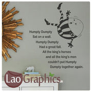 Humpty Dumpty Wall Stickers LL179 Home Decor Art Decals-LaoGraphics