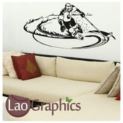 Ice Skater Hockey Boys Sports Wall Stickers Home Decor Art Decals-LaoGraphics
