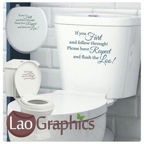 If You Fart Toilet Sticker Quote Home Decor Art Decals-LaoGraphics