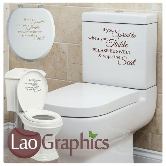 If You Sprinkle Toilet Quote Home Decor Art Decals-LaoGraphics